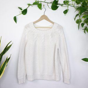 Aerie Knit Sweater Cream Oversized Neutral Size XL